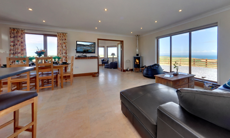 Millwheel Cottage Open-Plan Living Area, Wigtownshire